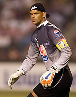 Pachuca CF goalkeeper Miguel Calero (1). Pachuca CF defeated the Chivas USA 2-1 during the 1st round of the 2008 SuperLiga at Home Depot Center stadium, in Carson, California on Sunday, July 13, 2008.