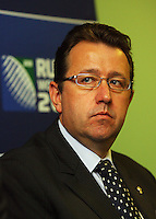 Ross Young, General Manager Rugby World Cup, Rugby World Cup Ltd.<br /> Rugby New Zealand (RNZ) 2011 Ltd CEO. 2011 Rugby World Cup Quarter-finals and Bronze Final Venue Announcement at the Rugby New Zealand 2011 offices, Wellington, New Zealand on Thursday, 4 September 2008. Photo: Dave Lintott / lintottphoto.co.nz