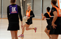 14.10.2014 Silver Ferns Katrina Grant in action at the Silver Ferns Training ahead of their netball test match in Auckland tomorrow night. Mandatory Photo Credit ©Michael Bradley.