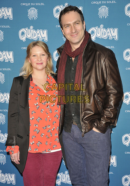 LONDON, ENGLAND - JANUARY 07: Joanna Page &amp; James Thornton attend the &quot;Cirque du Soleil: Quidam&quot; VIP press night, Royal Albert Hall, Kensington Gore, on Tuesday January 07, 2014 in London, England, UK.<br /> CAP/CAN<br /> &copy;Can Nguyen/Capital Pictures