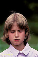 SN47-031z  Child - face gesture - sad, hurt feelings, pouty