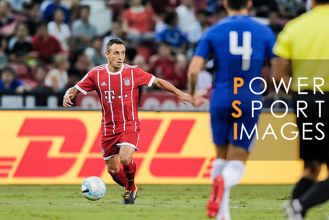 Bayern Munich Defender Rafinha de Souza (L) in action during the International Champions Cup match between Chelsea FC and FC Bayern Munich at National Stadium on July 25, 2017 in Singapore. Photo by Marcio Rodrigo Machado / Power Sport Images