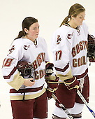 Ashley Motherwell (BC - 18), Danielle Welch (BC - 17) - The visiting St. Lawrence University Saints defeated the Boston College Eagles 4-0 on Friday, January 15, 2010, at Conte Forum in Chestnut Hill, Massachusetts.