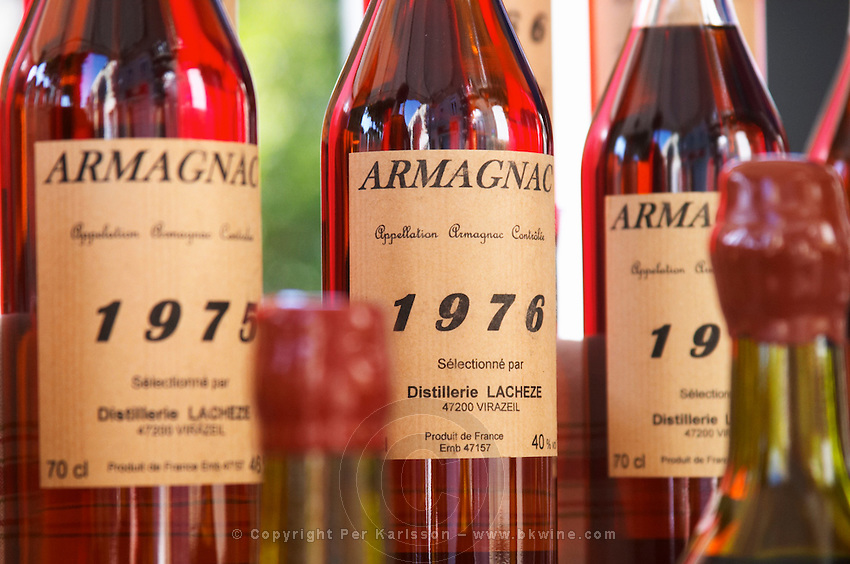 Armagnac. 1975 Bordeaux city, Aquitaine, Gironde, France