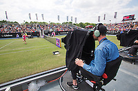 Netherlands, Rosmalen , June 08, 2015, Tennis, Topshelf Open, Autotron, Television camera's on centercourt<br /> Photo: Tennisimages/Henk Koster