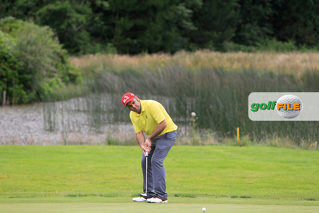 Seamus O'Connor (Newcastle West) on the 13th green during the Final round of the Munster section of the AIG Pierce Purcell Shield at East Clare Golf Club on Sunday 19th July 2015.<br /> Picture:  Golffile | Thos Caffrey