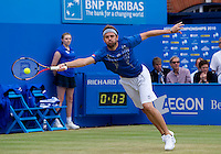 Mardy Fish (USA) against Sam Querrey (USA) in the final of the men's singles. Sam Querrey beat Mardy Fish 7-6 7-5..Tennis - ATP World Tour - AEGON Championships - Queen's Club - London - Day 7 - Sun 13 Jun 2010..© Frey - AMN Images,  1st Floor, Barry House, 20-22 Worple Road, London SW19 4DH.Tel - +44 (0) 208 947 0100.email - mfrey@advantagemedianet.com.www.advantagemedianet.com