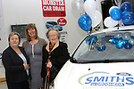Marie Russell, Ann Tracey and Claire Kelly at the Launch of the Monster Car Draw in aid of the Gary Kelly Centre at Smiths Garage....Photo NEWSFILE/Jenny Matthews.