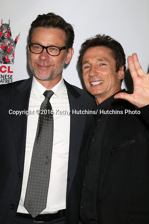 "LOS ANGELES - SEP 7:  Connor Trinneer, Dominic Keating at the ""UNBELIEVABLE!!!!!"" Premiere at the TCL Chinese 6 Theaters on September 7, 2016 in Los Angeles, CA"
