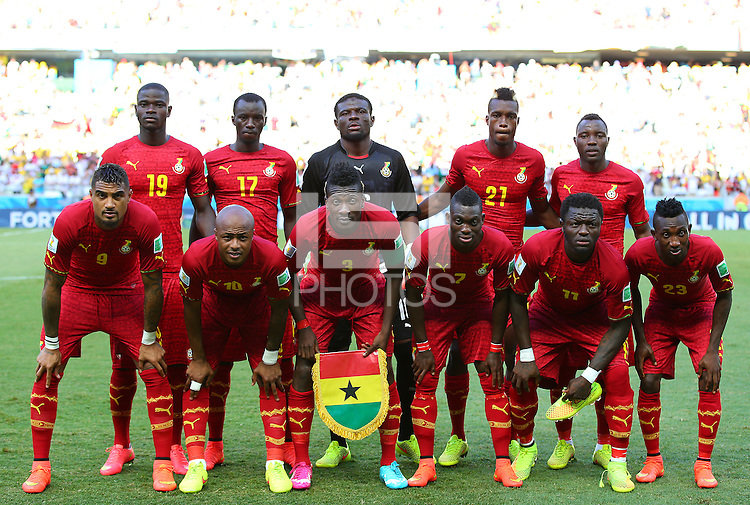 Ghana team group line up for the pre match photograph