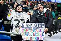 Swansea City fan with Andre Ayew of Swansea City shirt during the Sky Bet Championship match between Cardiff City and Swansea City at the Cardiff City Stadium in Cardiff, Wales, UK. Sunday 12 January 2020