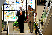 United States Secretary of Defense Leon Panetta meets with Field Marshal Hussein Tantawi at the Egyptian Ministry of Defense headquarters in Cairo, Egypt, October 4, 2011. .Mandatory Credit: Jacob N. Bailey / USAF via CNP