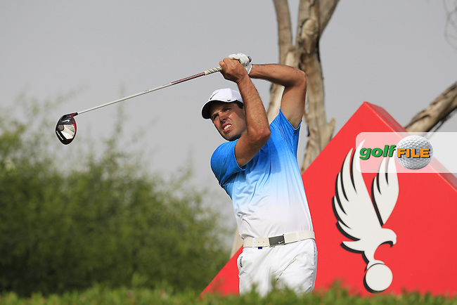 Charl Schwartzel (RSA) tees off the 11th tee during Sunday's Final Round of the Abu Dhabi HSBC Golf Championship 2015 held at the Abu Dhabi Golf Course, United Arab Emirates. 18th January 2015.<br /> Picture: Eoin Clarke www.golffile.ie