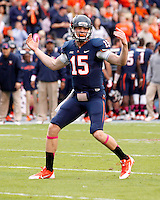 Virginia quarterback Matt Johns (15) Duke defeated Virginia 35-22 at Scott Stadium in Charlottesville, VA. . Photo/Andrew Shurtleff