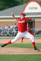 June 21st 2008:  Pitcher Lance Lynn (41) of the Batavia Muckdogs, Class-A affiliate of the St. Louis Cardinals, during a game at Dwyer Stadium in Batavia, NY.  Photo by:  Mike Janes/Four Seam Images