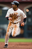 19 April 2007: Giants' Dave Roberts runs from second to third base during the San Francisco Giants 6-2 victory over the St. Louis Cardinals at the AT&T stadium in San Francisco, CA.