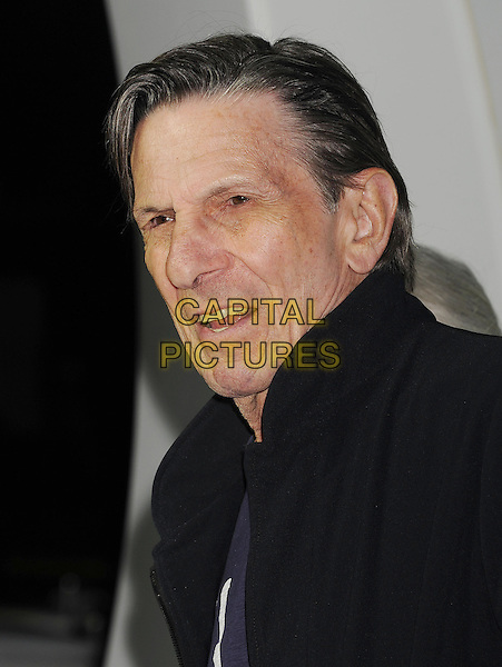 Leonard Nimoy<br /> &quot;Star Trek Into Darkness&quot; DVD/Blu-Ray Release held at the California Science Center, Los Angeles, California, USA.<br /> September 10th, 2013<br /> headshot portrait black jacket top <br /> CAP/ROT/TM<br /> &copy;Tony Michaels/Roth Stock/Capital Pictures