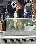 Mai Tanaka, JUNE 9, 2015 - MLB : Mai Tanaka cheers New York Yankees pitcher Masahiro Tanaka (not pictured) during a baseball game against the Washington Nationals at Yankee Stadium in New York, United States. (Photo by AFLO)
