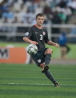 Tyler Polak kicks the ball. US Men's National Team Under 17 defeated Malawi 1-0 in the second game of the FIFA 2009 Under-17 World Cup at Sani Abacha Stadium in Kano, Nigeria on October 29, 2009.