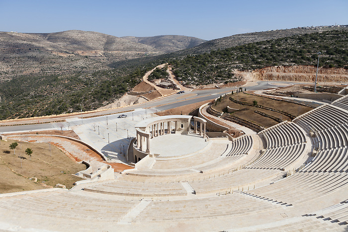 Feb 2015. The 15.000 seats open air amphitheater, claimed to be the biggest in middle east. It hosted the concert of the famous Gaza singer Mohammed Assaf, winner of the 2013 Arab Idol show, as the inauguration concert for the opening of the project.