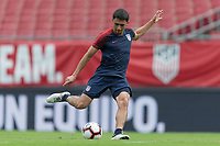 Tampa, FL - Wednesday October 10, 2018: The USMNT train in preparation for their match versus Colombia.