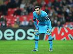 Tottenham's Hugo Lloris looks on dejected during the Champions League group E match at the Wembley Stadium, London. Picture date November 2nd, 2016 Pic David Klein/Sportimage
