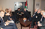 Palestinian President Mahmoud Abbas meets with Prime Minister of the Netherlands, on the sidelines of the General Debate of the 73rd session of the General Assembly at the United Nations, in New York on September 26, 2018. Photo by Thaer Ganaim