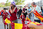Spain's supporters before the up match between Spain and Georgia before the Uefa Euro 2016.  Jun 07,2016. (ALTERPHOTOS/Rodrigo Jimenez)