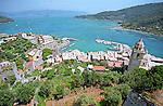 The Bright Colors of Portovenere on the Italian Riviera near the Cinque Terre.