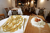 Pappardelle, farina e uova nel ristorante La Greppia a Parma.<br /> Pappardelle, flour and eggs in the restaurant La Greppia, in Parma.<br /> UPDATE IMAGES PRESS/Riccardo De Luca