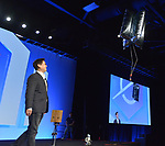 MIAMI BEACH, FL - APRIL 24: Founder of Romela professor of mechanical & Aerospace engineering at UCLA Dr. Dennis Hong attends eMerge Americas 2018 -day2 during Keynote: Do Robots Need To Look Like Humans? at Miami Beach Convention Center on April 24, 2018 in Miami Beach, Florida.  ( Photo by Johnny Louis / jlnphotography.com )