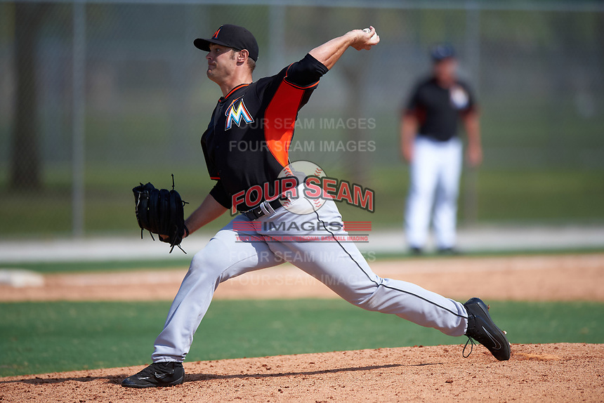 Miami Marlins Ben Holmes (52) during a minor league Spring Training intrasquad game on March 31, 2016 at Roger Dean Sports Complex in Jupiter, Florida.  (Mike Janes/Four Seam Images)