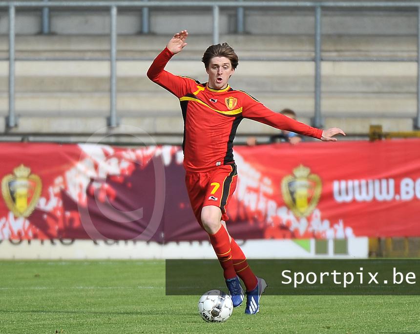 Scotland U19 - Belgium U19 : Thomas Foket.foto DAVID CATRY / Nikonpro.be