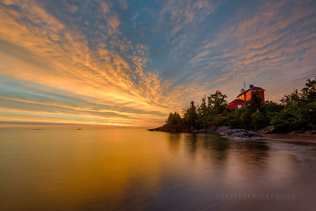 Golden Sunrise, Marquette Lighthouse