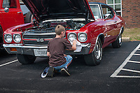 Hot rod and antique car show at city facility..