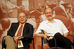 El compositor espanol Jose Luis Turina (r) y el director de orquesta Jose Luis Temes..(ALTERPHOTOS/Acero).