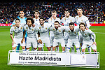 James Rodriguez,  Alvaro Morata, Luka Modric, Marcelo Vieira, Daniel Carvajal, Keylor Navas, Toni Kroos, Sergio Ramos, Cristiano Ronaldo  during the match of Spanish La Liga between Real Madrid and Real Betis at  Santiago Bernabeu Stadium in Madrid, Spain. March 12, 2017. (ALTERPHOTOS / Rodrigo Jimenez)