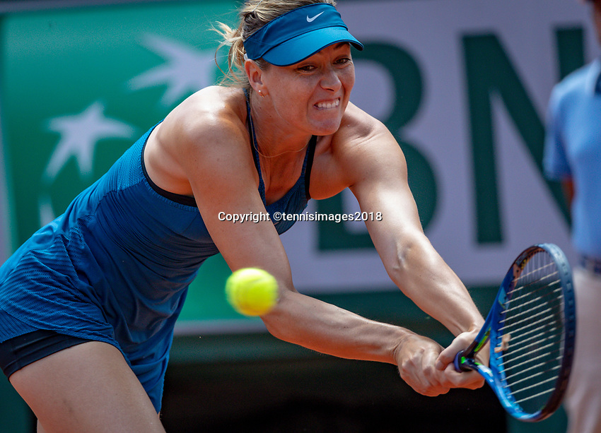 Paris, France, 02 June, 2018, Tennis, French Open, Roland Garros, Maria Sharapova (RUS)<br /> Photo: Henk Koster/tennisimages.com