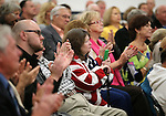 Several hundreds people listen as former Florida Gov. Jeb Bush speaks at a town hall meeting in Reno, Nev., on Wednesday, May 13, 2015. <br /> Photo by Cathleen Allison