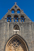 France, Lot, (46), Montcabrier: l' Église Saint-Louis , le clocher mur // France, Lot, Montcabrier: Saint-Louis church, the tower wall