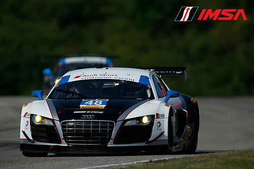 8-10 August 2014, Elkhart Lake, Wisconsin USA<br />  48, Audi, R8 LMS, GTD, Bryce Miller, Christopher Haase<br /> &copy;2014, Michael L. Levitt<br /> LAT Photo USA for IMSA