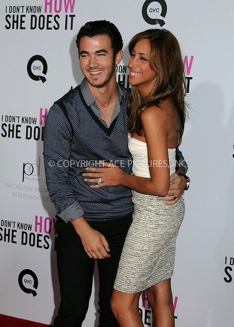 WWW.ACEPIXS.COM . . . . .  ....September 12 2011, New York City....Kevin Jonas and Danielle Deleasa arriving at The premiere of 'I Don't Know How She Does It' at AMC Loews Lincoln Square on September 12, 2011 in New York City. ....Please byline: JOE EAST - ACE PICTURES.... *** ***..Ace Pictures, Inc:  ..Philip Vaughan (212) 243-8787 or (646) 679 0430..e-mail: info@acepixs.com..web: http://www.acepixs.com