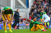 Preston North End's Lukas Nmecha reacts during a break in play<br /> <br /> Photographer Alex Dodd/CameraSport<br /> <br /> The EFL Sky Bet Championship - Blackburn Rovers v Preston North End - Saturday 9th March 2019 - Ewood Park - Blackburn<br /> <br /> World Copyright © 2019 CameraSport. All rights reserved. 43 Linden Ave. Countesthorpe. Leicester. England. LE8 5PG - Tel: +44 (0) 116 277 4147 - admin@camerasport.com - www.camerasport.com