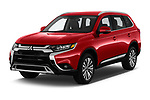 2019 Mitsubishi Outlander SEL 5 Door SUV angular front stock photos of front three quarter view