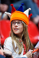 The Netherlands, Den Bosch, 16.04.2014. Fed Cup Netherlands-Japan, Dutch suporter<br /> Photo:Tennisimages/Henk Koster