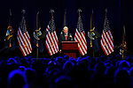 Bill Clinton addresses the crowd during a visit to Cobo Center, Saturday, April 26, 2014 in Detroit, Mich.  (AP Photo/Jose Juarez)