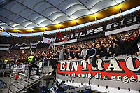 Fans von Eintracht Frankfurt - 02.05.2019: Eintracht Frankfurt vs. Chelsea FC London, UEFA Europa League, Halbfinale Hinspiel, Commerzbank Arena DISCLAIMER: DFL regulations prohibit any use of photographs as image sequences and/or quasi-video.