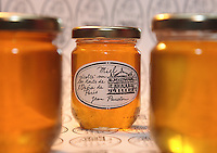 "A jar of honey from the Opera garnier. ""When I went up onto the roof one week after setting up my first hive, it was a veritable honey house,"" remembers Jean Paucton. ""Honey was dripping everywhere! It was a very flavorful honey, with notes of lemon and mint. This is not at all an ordinary honey, like that from rape or sunflower""."