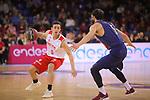 League ACB-ENDESA 2017/2018 - Game: 20.<br /> FC Barcelona Lassa vs Retabet Bilbao Basket: 90-58.<br /> Ricardo Fisher vs Pau Ribas.