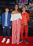 """Garcelle Beauvais and sons 048 arrives for the premiere of Sony Pictures' """"Spider-Man Far From Home"""" held at TCL Chinese Theatre on June 26, 2019 in Hollywood, California"""